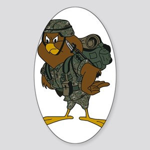 Jason-Chickenhawk-Bonnie-2 Sticker (Oval)