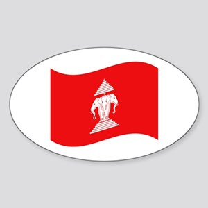 Laos Lao Erawan Flag Wave Sticker