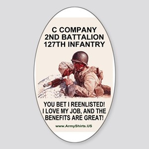 ARNG-127th-Infantry-C-Co-Reenlistme Sticker (Oval)