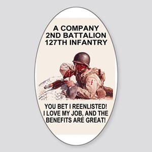 ARNG-127th-Infantry-A-Co-You-Bet-Po Sticker (Oval)