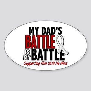 My Battle Too 1 PEARL WHITE (Dad) Oval Sticker