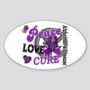 Peace Love Cure 2 Alzheimers Sticker (Oval )