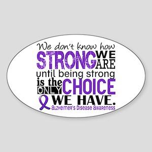 Alzheimer's HowStrongWeAre Sticker (Oval)
