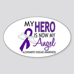 Alzheimers Hero Now My Angel Sticker (Oval)