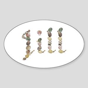 Jill Seashells Oval Sticker