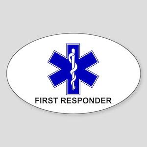 BSL - FIRST RESPONDER Sticker (Oval)