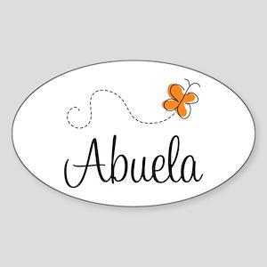 Abuela Butterfly Sticker (Oval)
