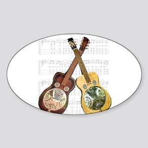 Dobro and loving it Oval Sticker