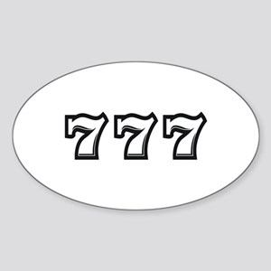 Triple 7s Sticker (Oval)