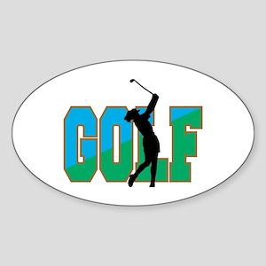Women's Golf Oval Sticker