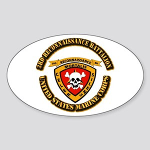 SSI - 3rd Reconnaissance Bn With Text USMC Sticker