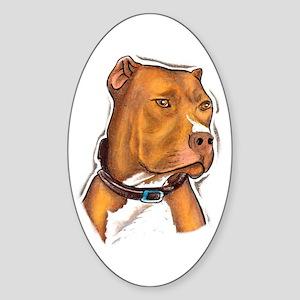 Pit Bull Beauty Oval Sticker