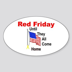 Red Friday (yellow ribbon) Oval Sticker