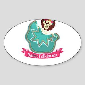 Ballet Folklorico Mexican Sugar Skull Ball Sticker
