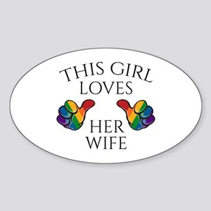 This Girl Loves Her Wife Sticker