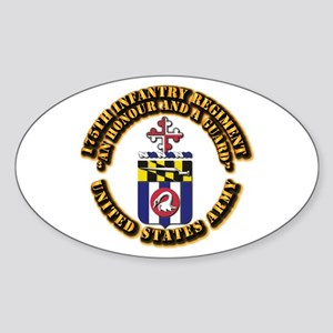 COA - 175th Infantry Regiment Sticker (Oval)