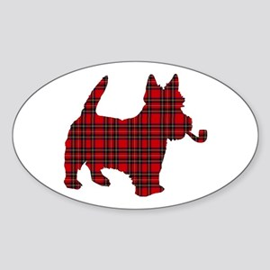 Scottish Terrier Tartan Oval Sticker