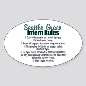 Dr. Bailey's Rules Sticker (Oval)