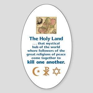 Holy Land Oval Sticker