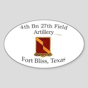 4th Bn 27th FA Sticker (Oval)