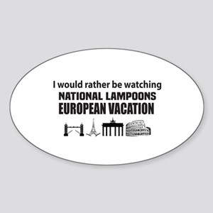 National Lampoons European Vacation Sticker (Oval)