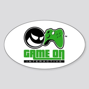 Game On Oval Sticker