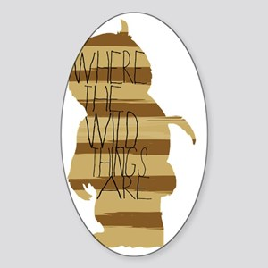 Where the Wild Things Are Sticker (Oval)