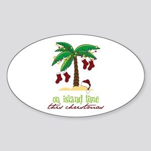 On Island Time Sticker