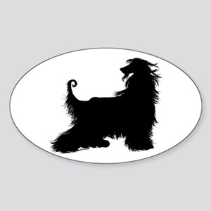 Afghan Silhouette Oval Sticker