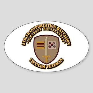 Army - 5th Transportation Battalion Sticker (Oval)