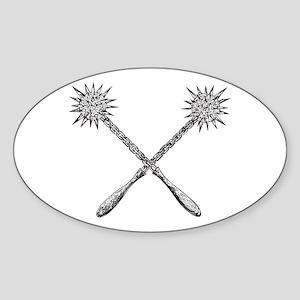 Mace Oval Sticker