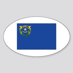 Flag of Nevada Sticker (Oval)