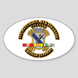 1st Battalion, 6th Infantry Sticker (Oval)