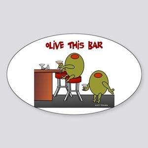Olive This Bar Oval Sticker