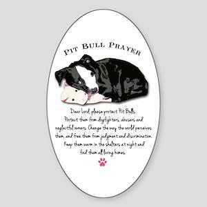 Pit Bull Prayer Sticker