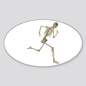 Skeleton Oval Sticker