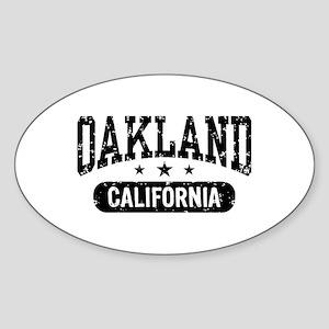 Oakland California Oval Sticker