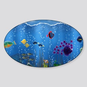 Underwater Love Sticker (Oval)