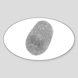 Fingerprint Vinyl Sticker