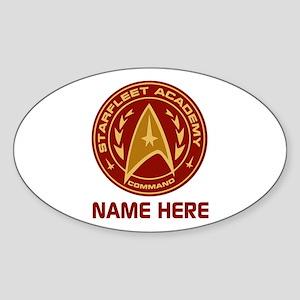 Starfleet Academy Personalized Sticker (Oval)