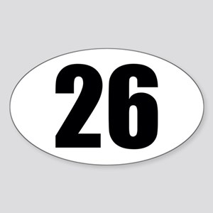 Number 26 Sticker (Oval)