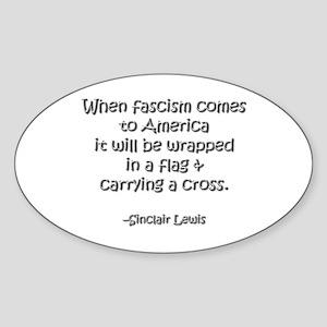 Fascism Oval Sticker