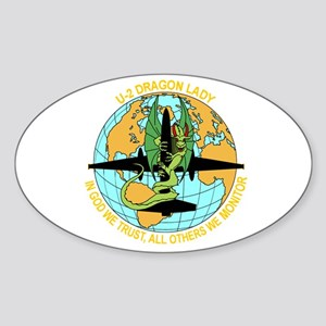 Dragon Lady Oval Sticker