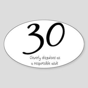 30th Birthday Oval Sticker