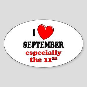 September 11th Oval Sticker