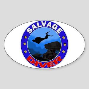 Salvage Diver Oval Sticker