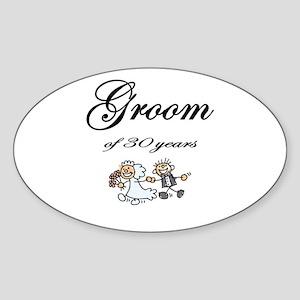 Groom of 30 Years Sticker (Oval)