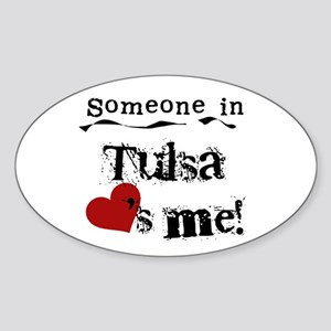 Tulsa Loves Me Oval Sticker