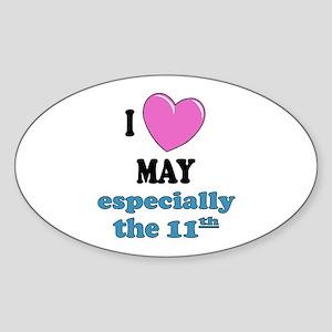PH 5/11 Oval Sticker