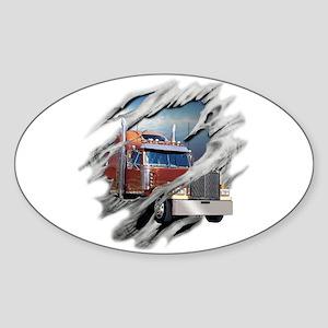 Torn Trucker Oval Sticker
